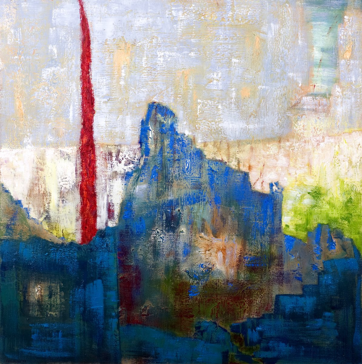Old Stone to Earth - Oil on Canvas 76cm x 76cm