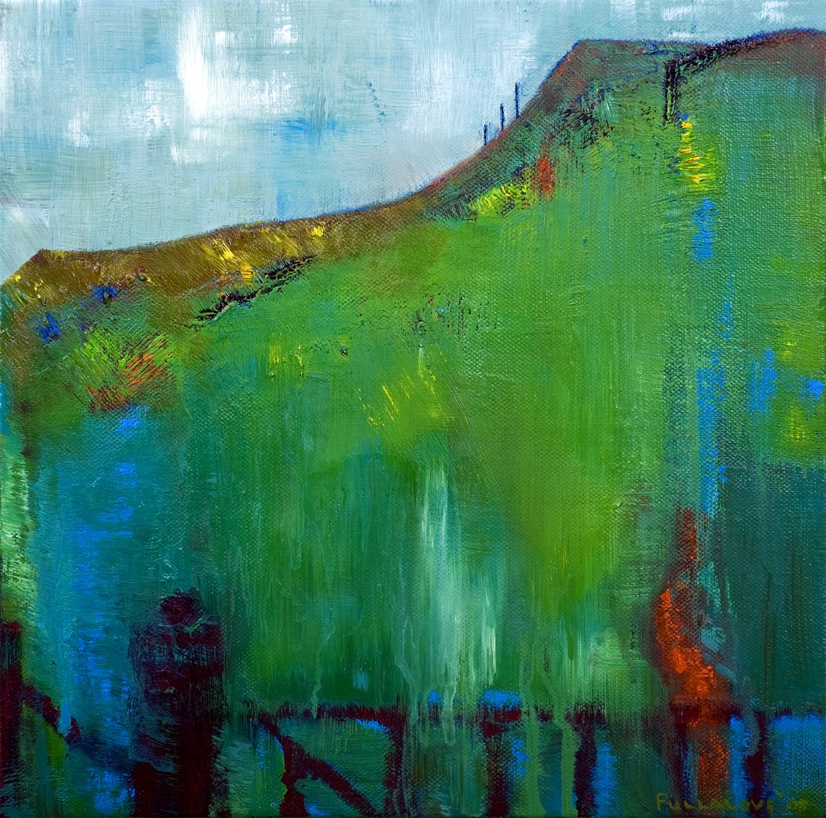 View From the Haworth - Oil on Canvas 30cm x 30cm