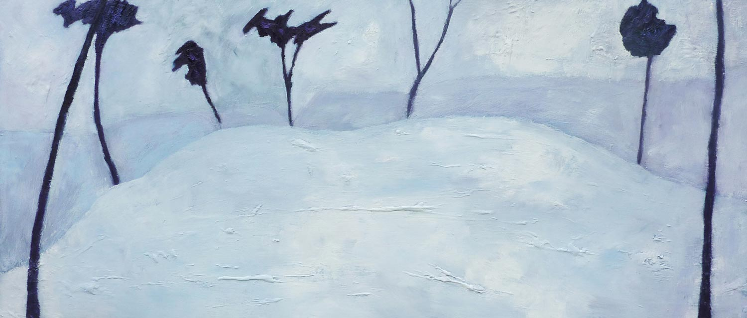 Bleak Lake - Oil on Panel - 58cm x 128cm
