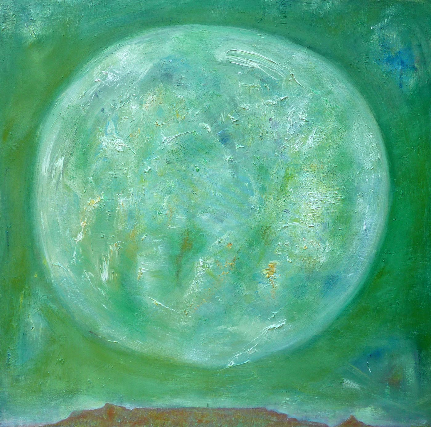 Portrait of the Moon (Cape Town) - Oil on Canvas 122cm x 122cm