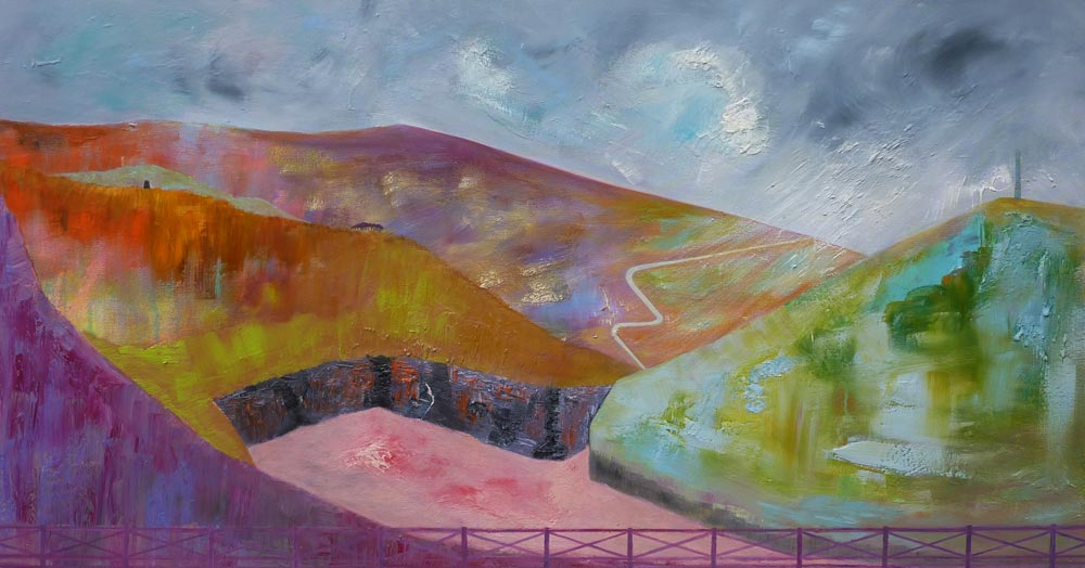 The Road to Weardale – Oil on Canvas – 85 cm x 155 cm