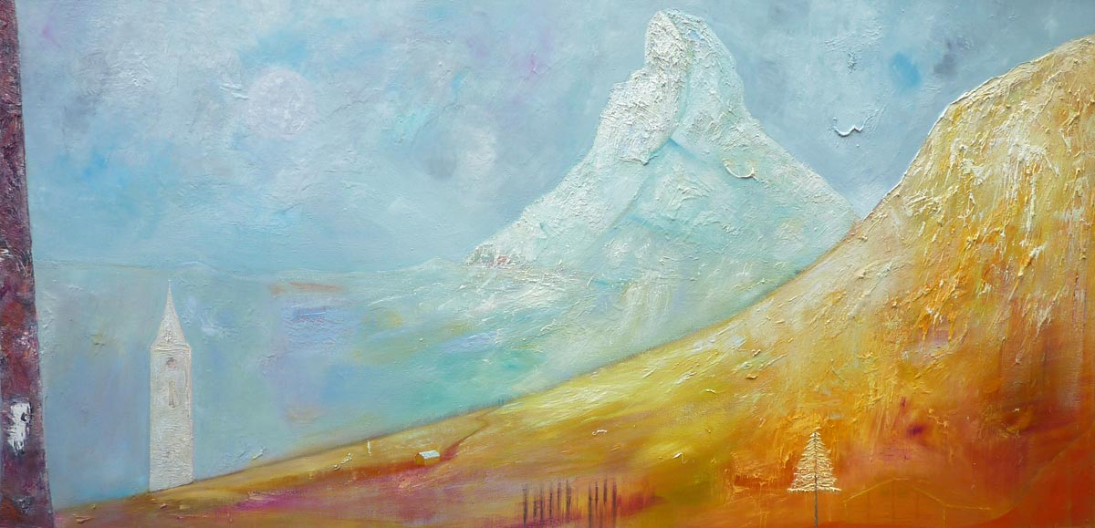 Visions of Zermatt - Oil on Canvas – 100 cm x 200 cm