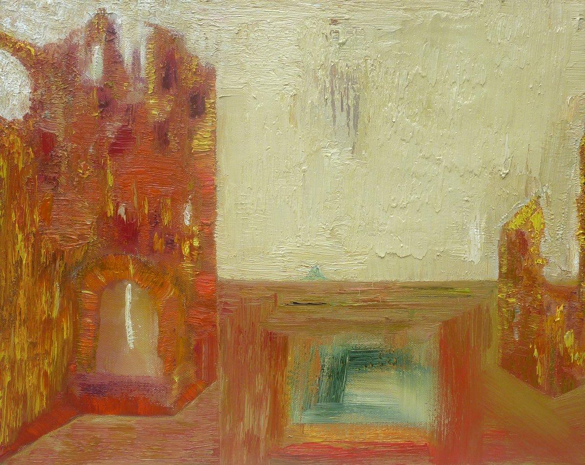 Contemplate the Past - Oil on Canvas 46cm x 56cm