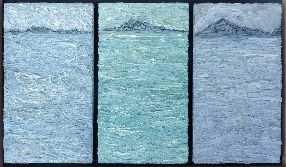 Island Approach - Oil on Panel 28cm x 45cm