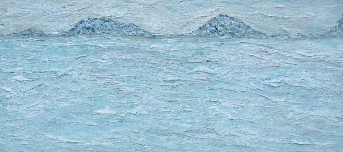 Island Approach IV - Oil on Panel 21cm x 46cm