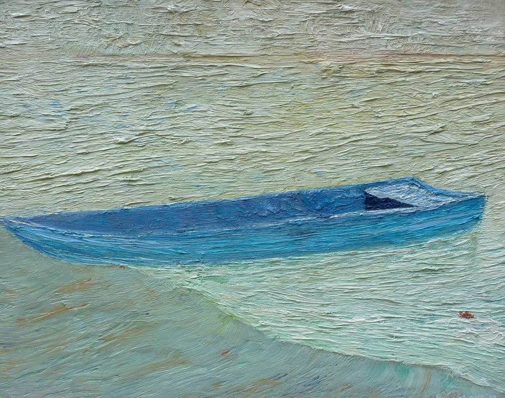 Memory of a Wooden Boat - Oil on Canvas - 46cm x 46cm