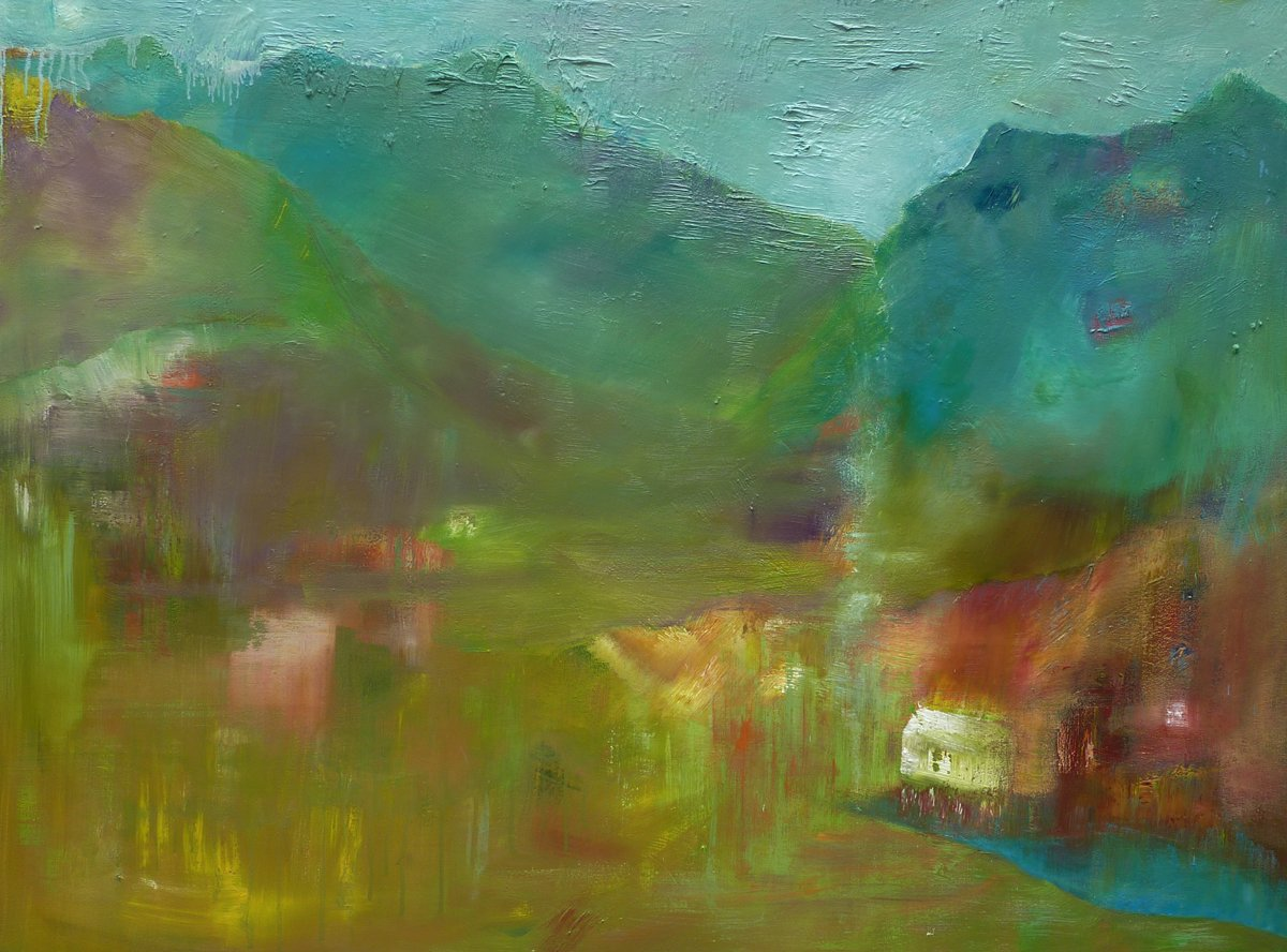 Settlement Oil on Canvas - 93cm x 121cm