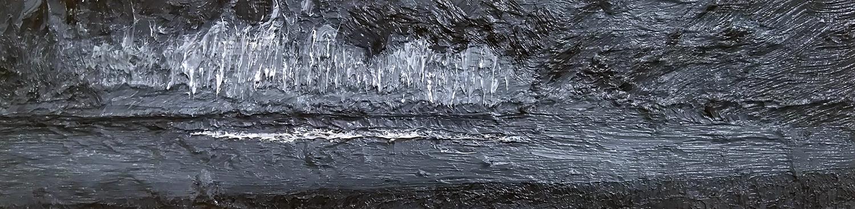 monochrome 8 - Oil on Panel