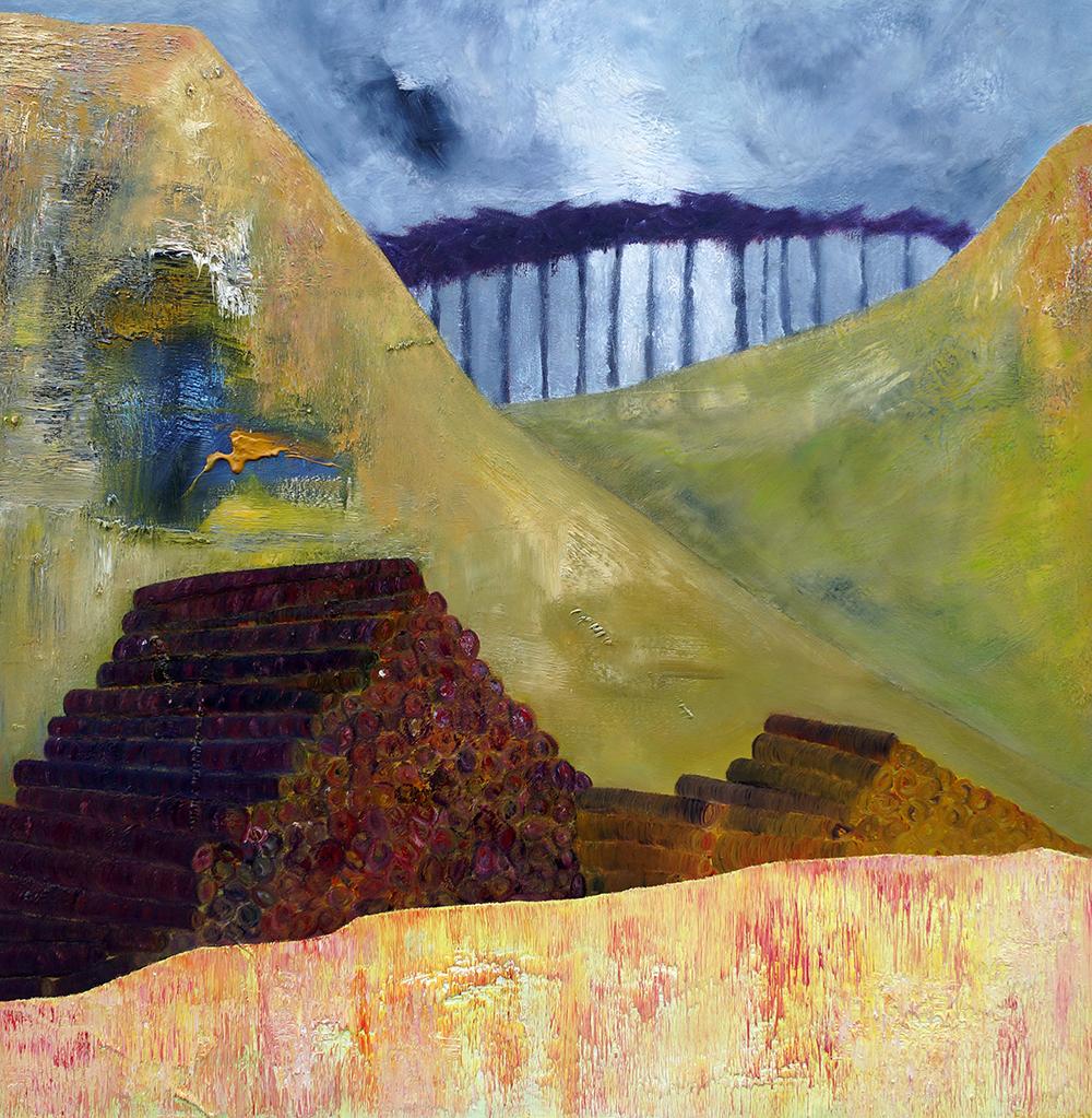Destructive Path - oil on canvas - 97cm x 97cm