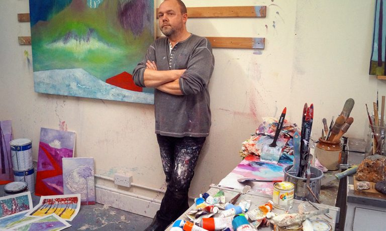 Recent Studio Shot During Work On Cornwall Paintings