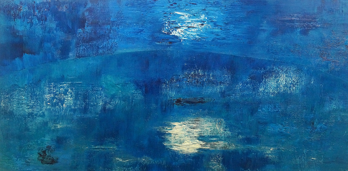 Landscape In Blue - Oil on Canvas - 61cm x 122cm