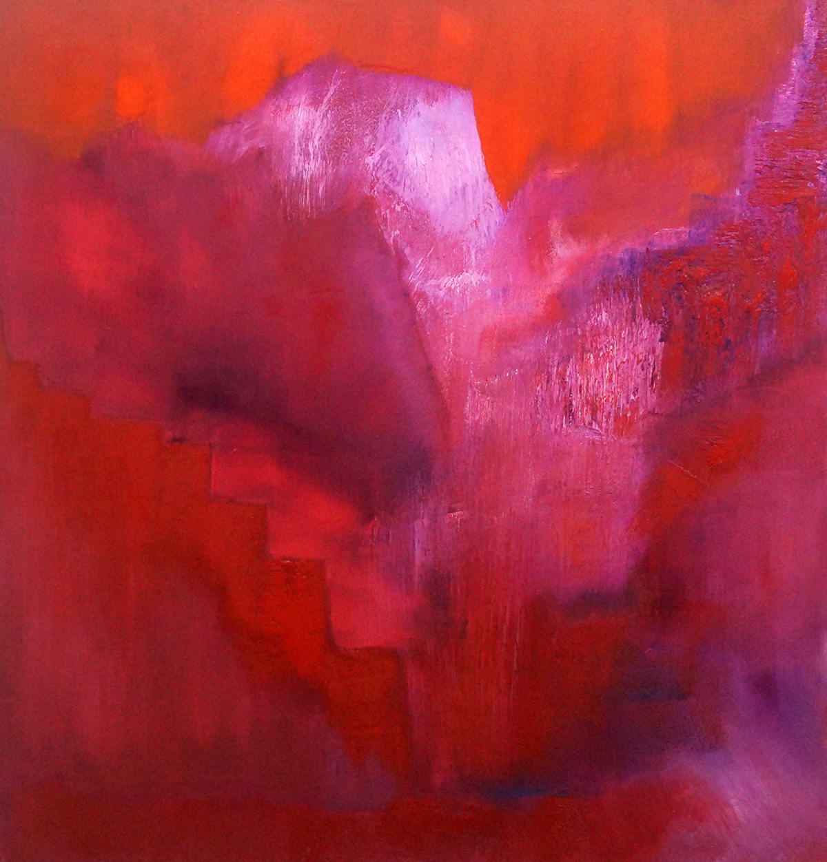Landscape In Red - Oil on Canvas - 91.5cm x 91.5cm