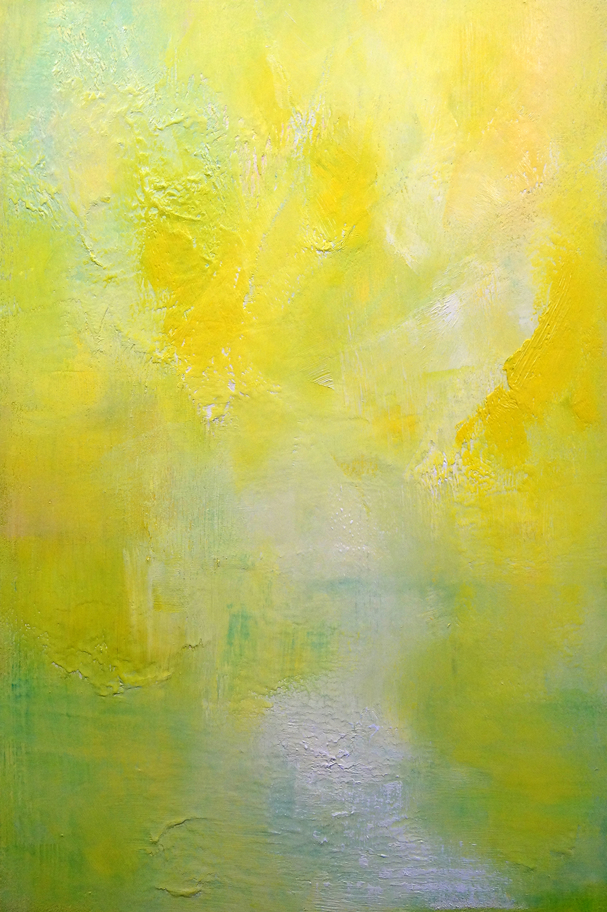 Landscape In Yellow - Oil on Canvas - 91.5cm x 61cm