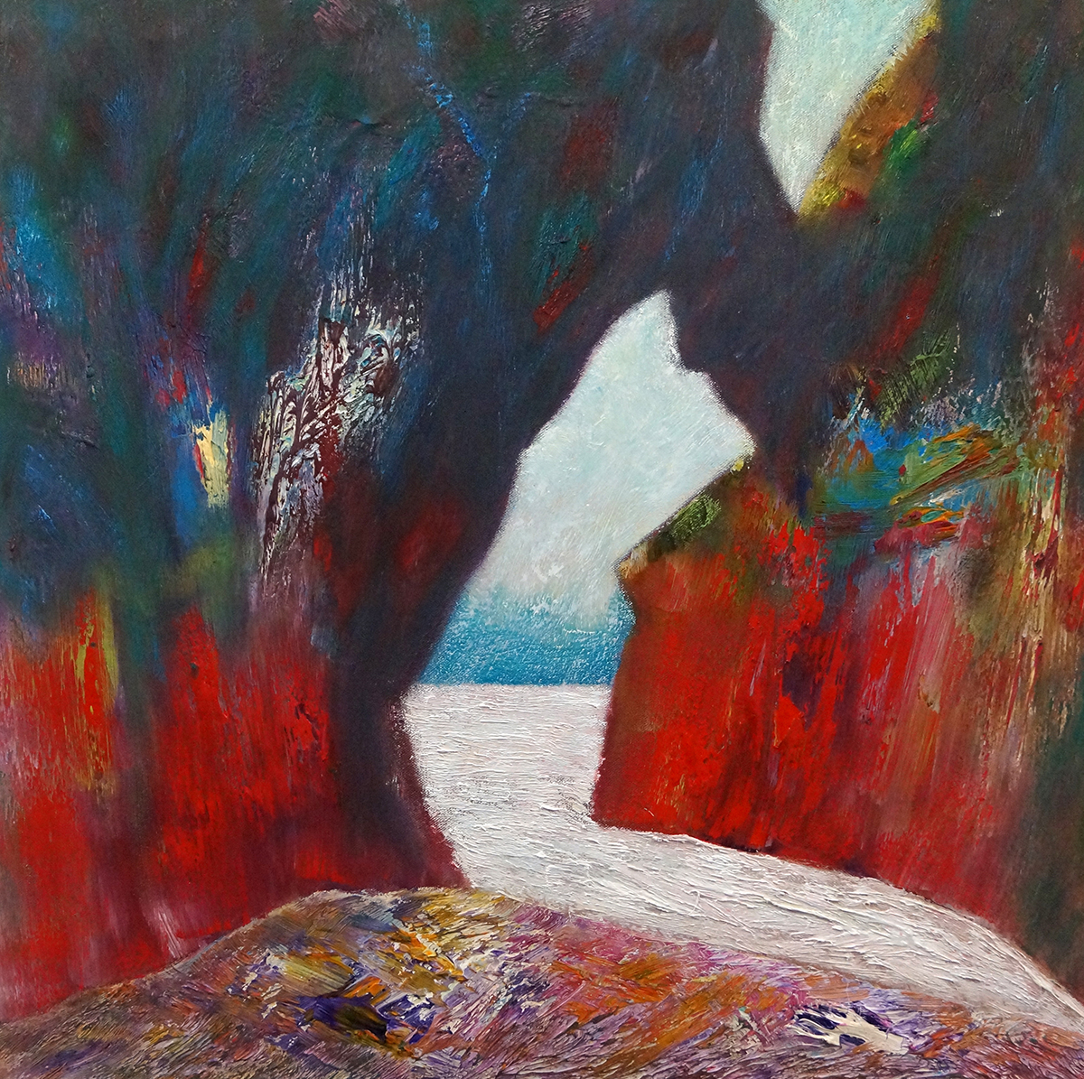 Out of Darkness - Oil on Canvas - 61cm x 61cm