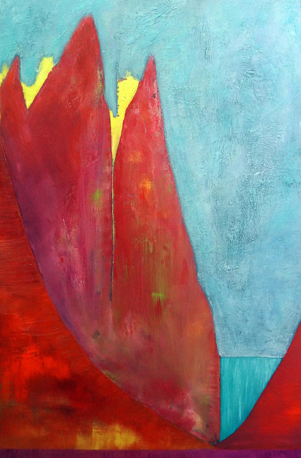 Red Raw - Oil on Panel - 91.5cm x 61cm