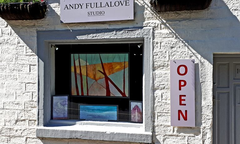 Studio Window Ready For Holmfirth Artweek Fringe