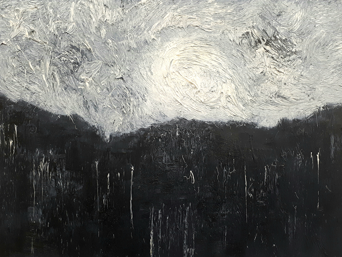 Monochrome 14 - Oil on Panel