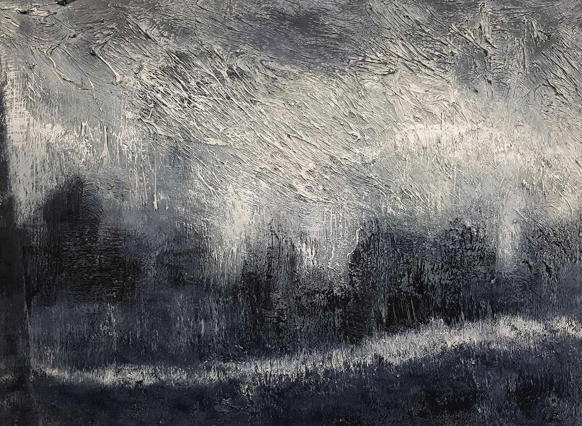 Monochrome 15 - Oil on Panel